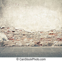 Wall texture - Aged street wall background, texture