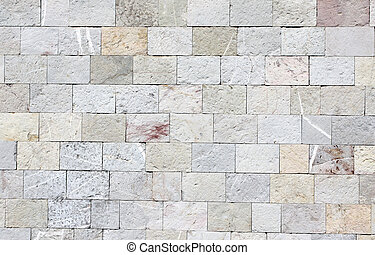 Wall texture with marble blocks