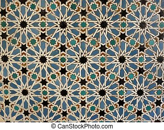 Wall tiles at the Real Alcazar - Ceramic wall tiles in the...