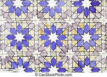 Wall tiles with typical old Lisbon