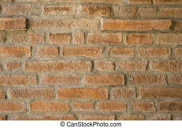 wall., vecchio, mattone