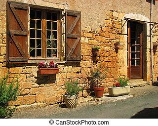 Wall, window, door