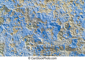 wall with blue and white spot as background