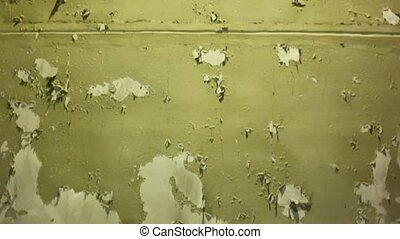 Wall with damaged by paint