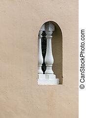 wall with decorative window