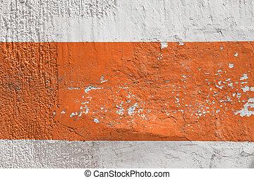 Wall with orange stripe