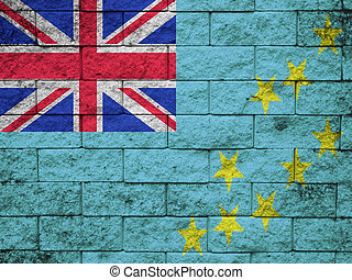 wall with painted flag of Tuvalu