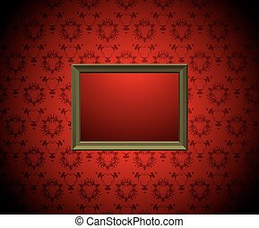 Wall with  picture frame