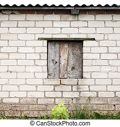 wall with place for a window