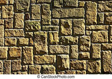 Wall with strange bricks
