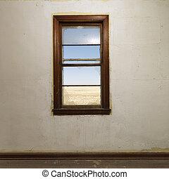 Wall with window.