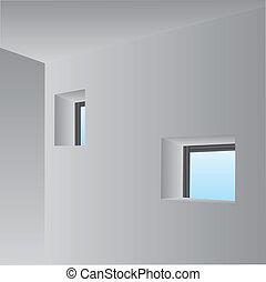 Wall with windows