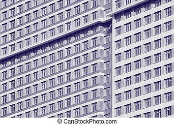 Wall with windows.
