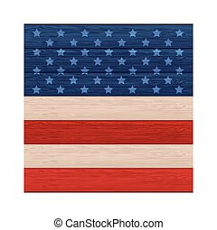 wall wooden with american flag design