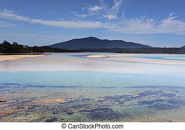 Wallaga Mouth views to Mt Gulaga Australia