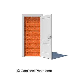 Walled up doorway
