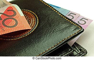 wallet and bank notes - mens wallet with bank notes