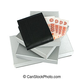Wallet and gift boxes