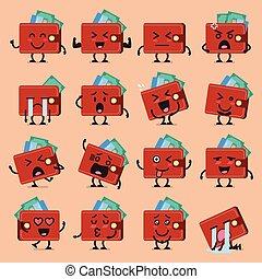 Wallet character emoji set