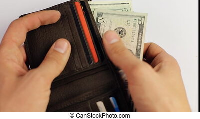 Wallet full of money  Counting money, Seamless loop video of male hands counting a lot of one hundred dollar bills