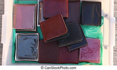 wallet handmade of leather