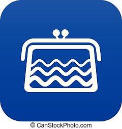 Wallet icon blue vector