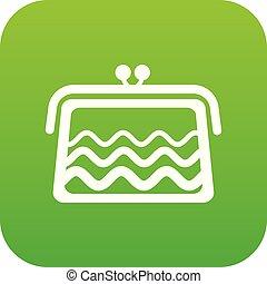 Wallet icon green vector