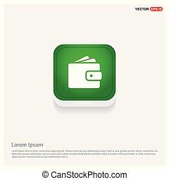 wallet icon Green Web Button