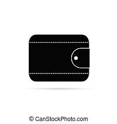 wallet in black icon vector illustration