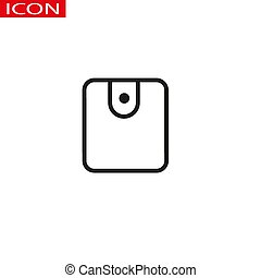 Wallet line icon. High quality black outline logo for web site design and mobile apps. Vector illustration on a white background.