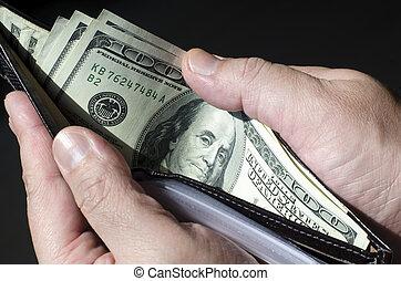 Wallet Money - Wallet full of money, concept of wealth.