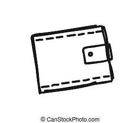 Wallet on a white background. Silhouette. Vector