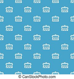 Wallet pattern vector seamless blue repeat for any use