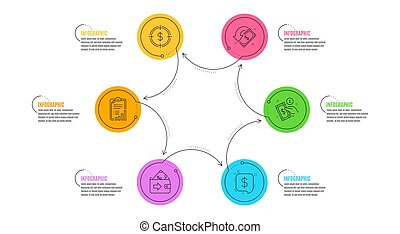 Wallet, Payment message and Cashback icons set. Payment method, Dollar target and Checklist signs. Vector