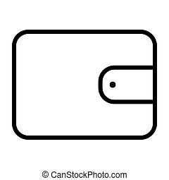 Wallet Pixel Perfect Vector Thin Line Icon 48x48. Simple Minimal Pictogram
