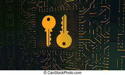 Wallet Sign Circuit Board With Two Keys