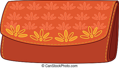 Wallet with a floral pattern