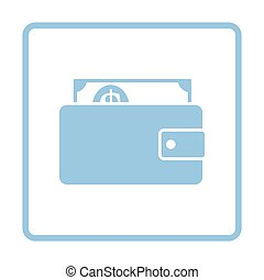 Wallet with cash icon