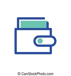 wallet with credit card on white background