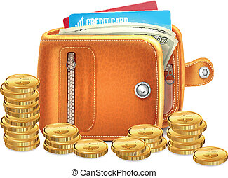 Wallet with Gold Coins