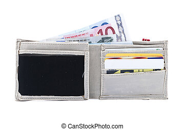 Wallet with money and cards