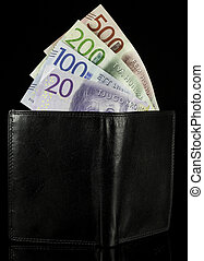 Wallet with Swedish Krona Currency
