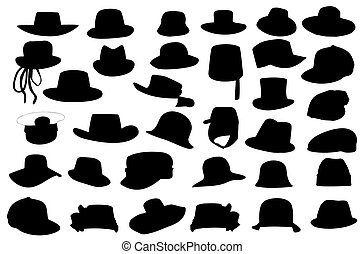 Wallets collection silhouette vector illustration isolated on white background.
