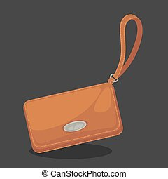 Wallets with money shopping. Purse cash.