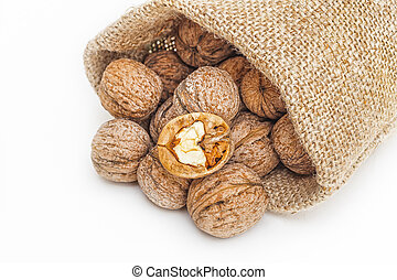Wallnuts in a sack