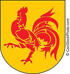 Wallonia reg coa - Various vector flags, state symbols, ...