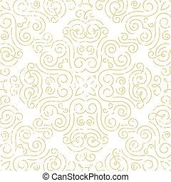 wallpaper., 金, 型, 抽象的, seamless, バックグラウンド。