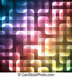 wallpaper., abstract, spectrum, illustratie, helder, vector