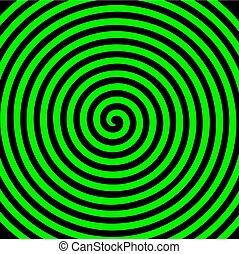 wallpaper., abstract, spiraal, hypnotic, draaikolk, black , groene, ronde