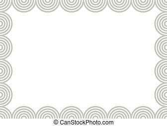 Wallpaper border. Background frame.